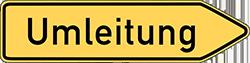 Umleitung! Beachten Sie die derzeitige Verkehrsführung!