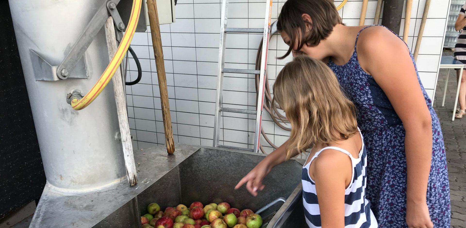 Ein Erlebnis für die ganze Familie: Apfelsaft aus den eigenen Äpfeln