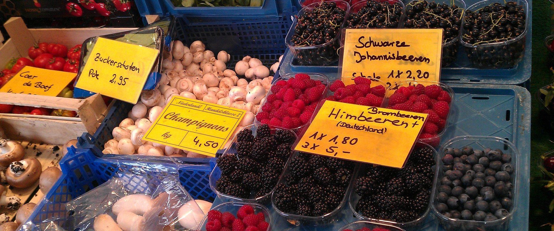 Regionales und saisonales Obst - Jeden Tag ein bisschen Wochenmarkt.